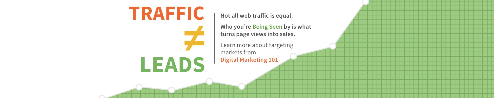 Page traffic doesn't equal leads or sales.